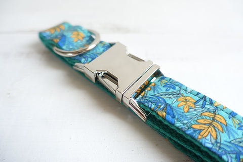 THE LEAF Handmade Luxury Designer Dog Collars Personalised and Leash - Dog Shop Deals