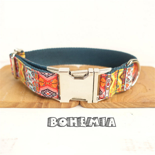 BOHEMIA | Luxury Designer Personalised Dog Collar and Leash - Dog Shop Deals