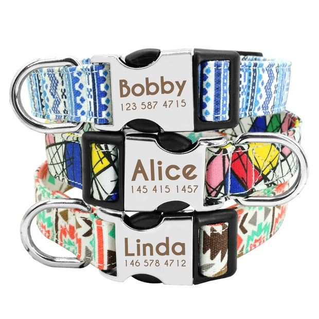 THE ADORI | Dog Collar with Laser Engraved Personalised Buckle - Dog Shop Deals