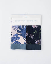 Cotton Muslin Security Blankets - Tropical Pink + Dark Coneflower