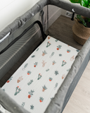 Cotton Muslin Mini Crib Sheet - Prickle Pots
