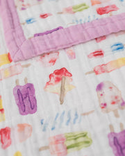 Big Kid Cotton Muslin Quilt- Brain Freeze