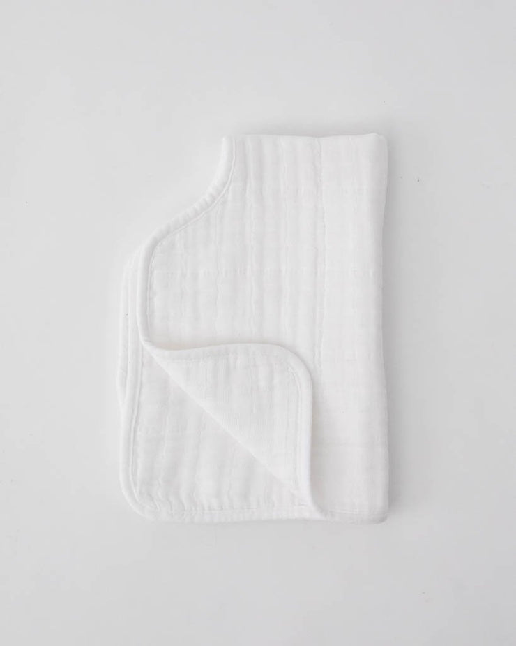 Cotton Muslin Burp Cloth - White