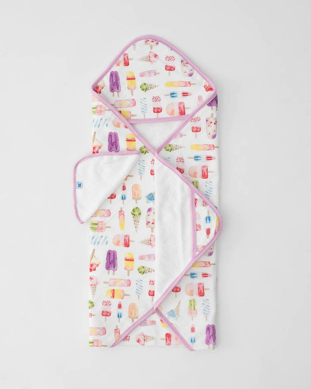 Hooded Towel & Wash Cloth - Brain Freeze