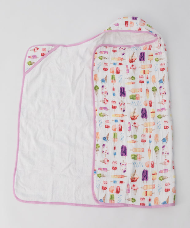 Big Kid Hooded Towel -Brain Freeze