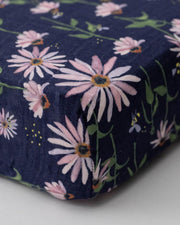 Cotton Muslin Crib Sheet - Dark Coneflower