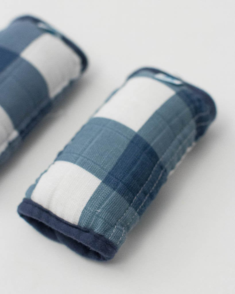 Cotton Muslin Strap Covers - Jack Plaid
