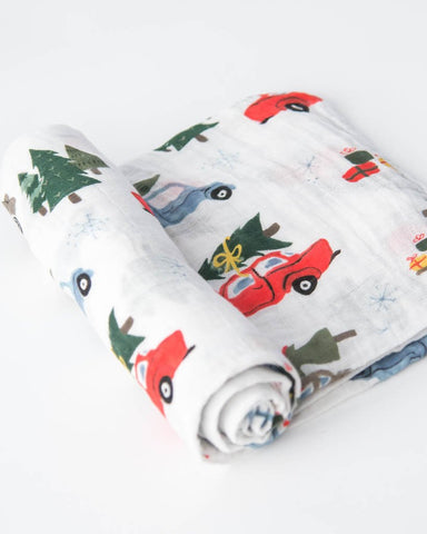 Cotton Muslin Swaddle Single - Holiday Haul
