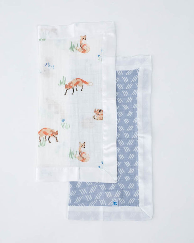 Cotton Muslin Security Blankets - Fox + Blue Grass
