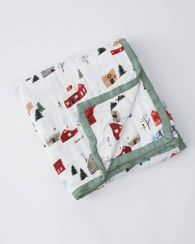 Deluxe Muslin Quilt - Winter Village