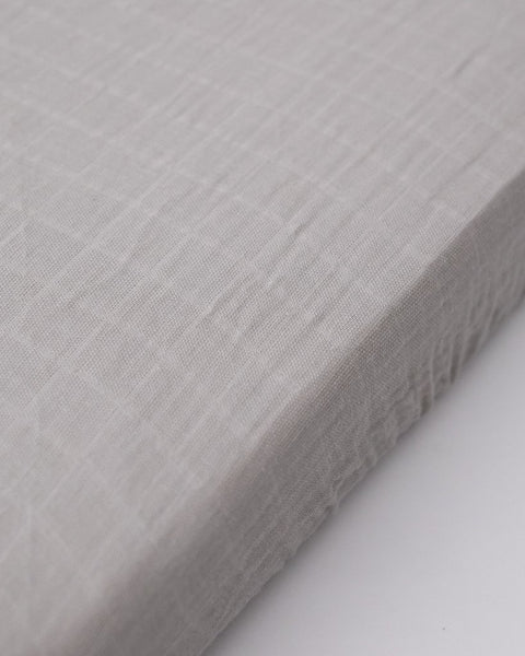 Cotton Muslin Mini Crib Sheet - Warm Grey