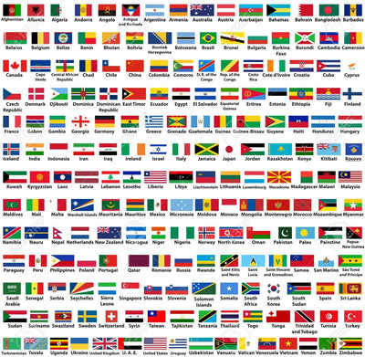 Country Flag Adult Mask Select your Country
