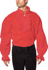 Deluxe Ruffled Cotton Pirate Shirt Adult Costume Color Options