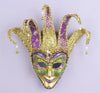 Large Purple and Green Venetian Mask with Bells
