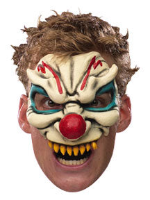 Chinless Evil Clown - Adult Vinyl Chinless Mask
