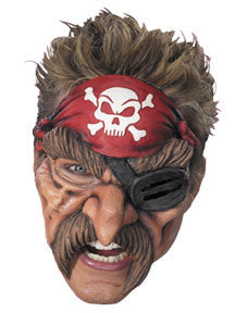 Pirate Adult Vinyl Chinless Mask