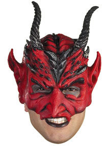 Warrior of Darkness Vinyl Adult Half-Cap Mask