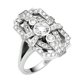 18CT DIAMOND PALMER RING