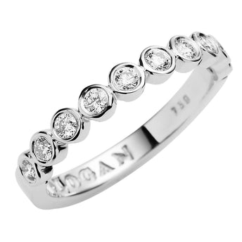 18CT WHITE GOLD DIAMOND CHENIR BAND