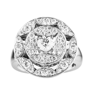 18CT DIAMOND MULHOLLAND RING