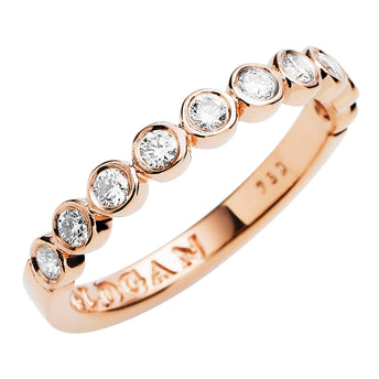 18CT ROSE GOLD DIAMOND CHENIR BAND