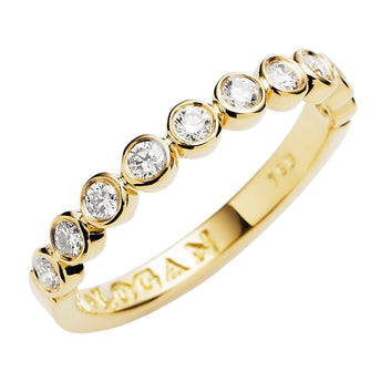 18CT YELLOW GOLD DIAMOND CHENIR BAND