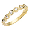 18CT YELLOW GOLD DIAMOND CIENEGA BAND