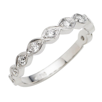 18CT WHITE GOLD DIAMOND CIENEGA BAND