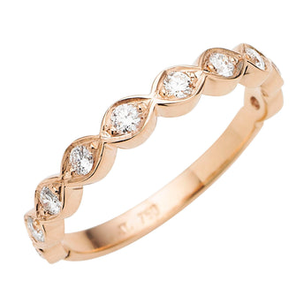18CT ROSE GOLD DIAMOND CIENEGA BAND