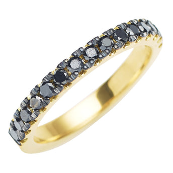 18CT BLACK DIAMOND PICCADILLY BAND
