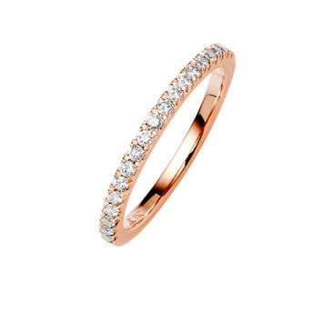 18CT ROSE GOLD DIAMOND PICCADILLY BAND
