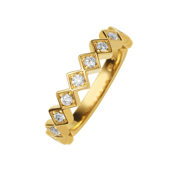 18CT GOLD DIAMOND TRULLI BAND