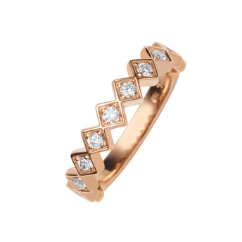 18CT ROSE GOLD DIAMOND TRULLI BAND