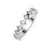 18CT WHITE GOLD DIAMOND TRULLI BAND