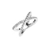 18WG ENTWINE DIAMOND CROSS OVER RING