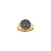 18CT BLACK DIAMOND SIGNET RING