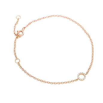 18CT ROSE GOLD DIAMOND MINI CIRCLE BRACELET