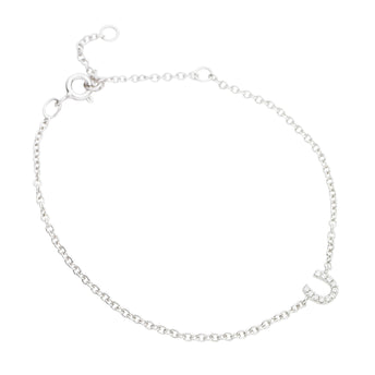 18CT WHITE GOLD DIAMOND LUCKY BRACELET