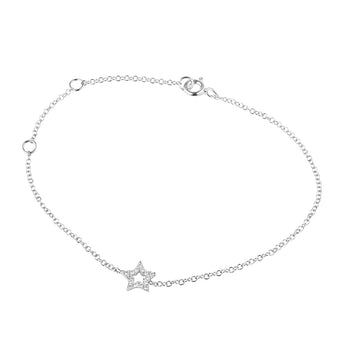 18CT DIAMOND STAR BRACELET