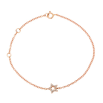 18CT ROSE GOLD DIAMOND STAR BRACELET