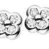 18CT DIAMOND FORGET ME NOT EARRINGS