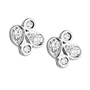 18CT DIAMOND BARCELONA STUD EARRINGS