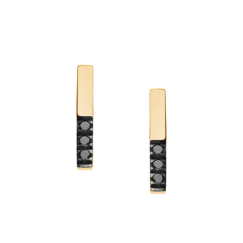 18CT BLACK DIAMOND JUNO STUD EARRINGS