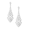 18CT WHITE GOLD DIAMOND MATRIX EARRINGS