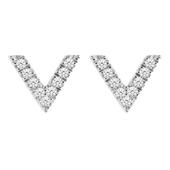18CT VIVECKE DIAMOND STUD EARRINGS