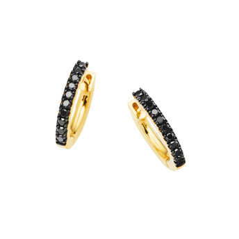 18CT BLACK DIAMOND CUFF EARRINGS