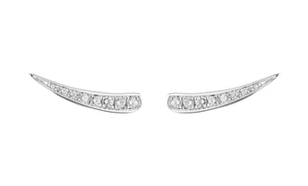 18CT WHITE GOLD DIAMOND NERANO EARRINGS