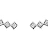 18CT 3 DIAMOND TRULLI EARRINGS