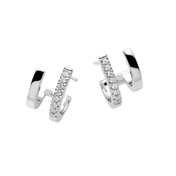 18CT DIAMOND DOPPIO EARRINGS