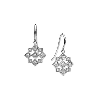 18CT DIAMOND TRULLI DROP EARRINGS